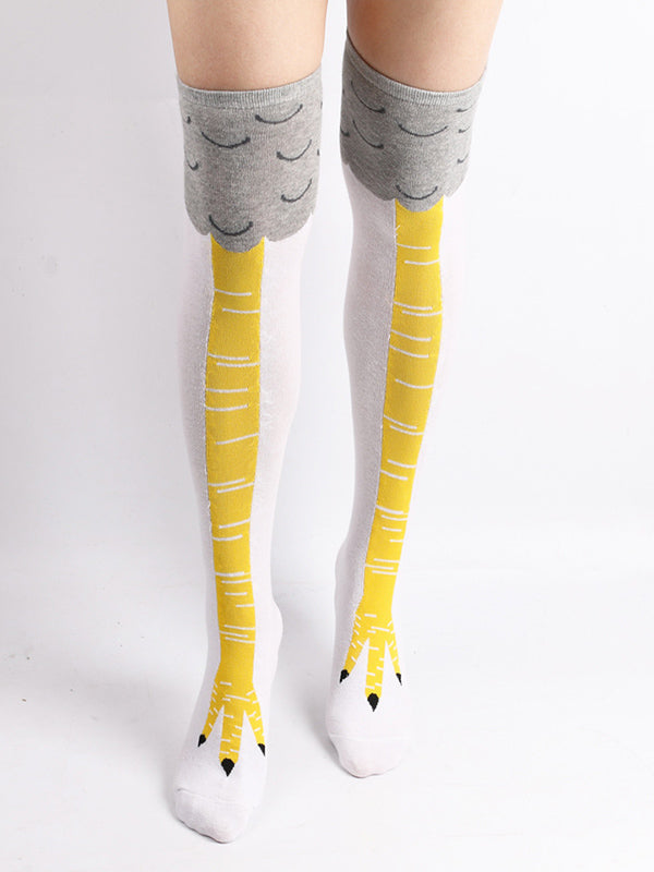 Cartoon Chicken Claws Printed Stocking
