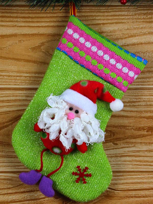 Christmas Socks Gift Pouch Decoration