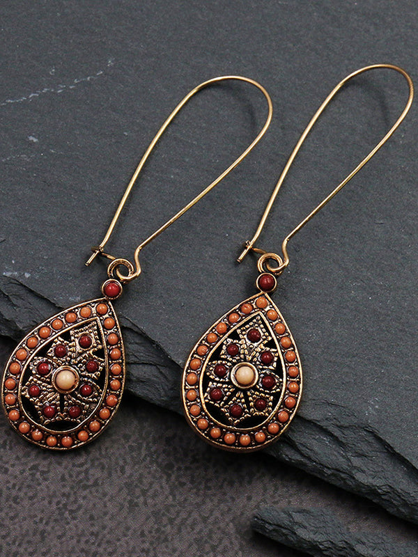 Vintage Alloy Hollow Earring Accessories