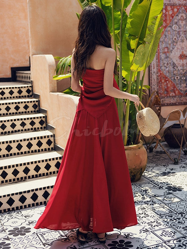 Sexy Fairy Backless Bench Maxi Dresses