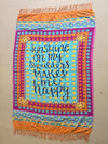 Romantic Summer Rectangle Shawl Beach Mat Yoga Mat