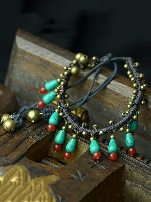 Beautiful Handmade Water Drop Pattern Footchain Accessories