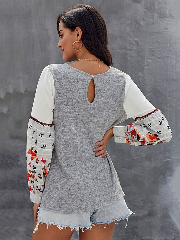 Casual Long Sleeves Embroidery Women's Shirt