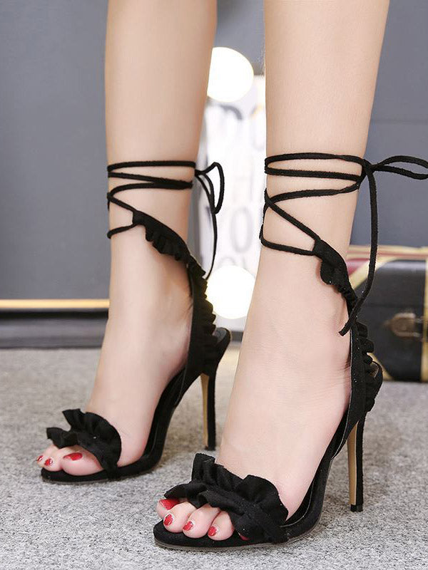 Pretty Strap Spike Heels Shoes