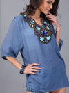 Special Bohemia Half Sleeve V Neck Embroidery Blouse Tops