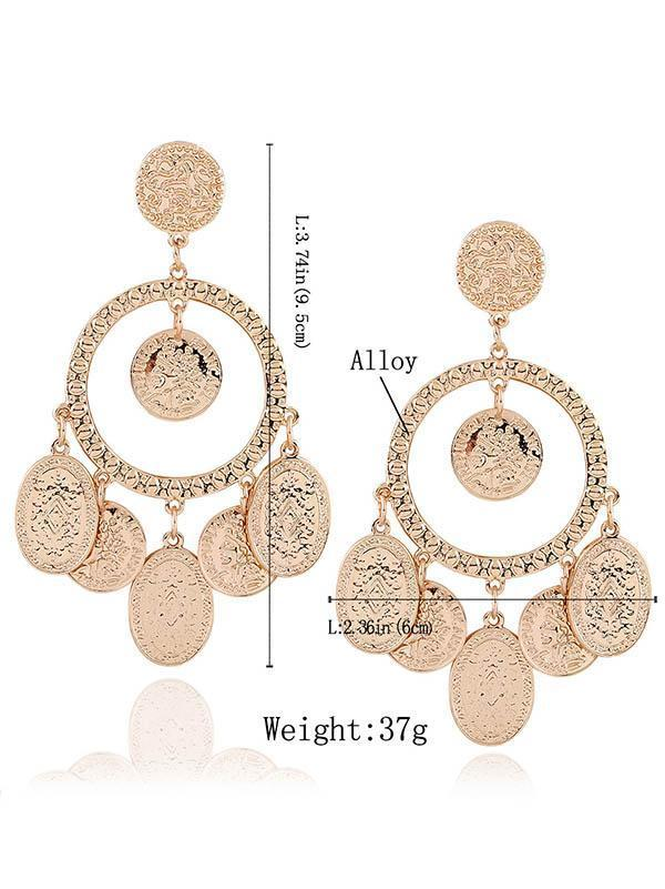 Fashion Bohemia Hollow Earrings