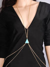 Bohemia Triangle Turquoise Tassels Body Chain Accessories