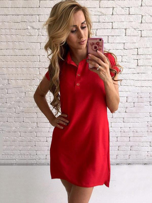 Stand Collar Short Sleeve Mini Dress