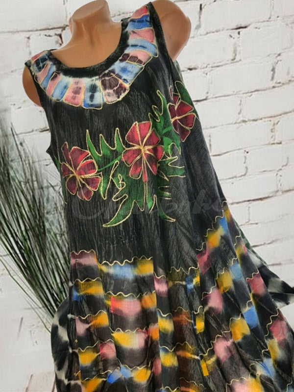 Ethnic Style Print Sleeveless Dress