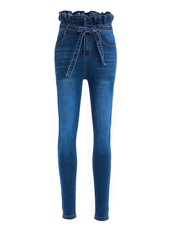 Fashion Elastic 2 Colors Jean Pants Bottoms