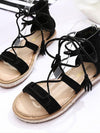 Brown Black Apricot Bohemia Type Beach Flat Sandal