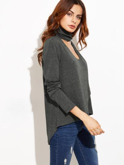Asymmetric Halter-neck Loose Blous&shirts Tops