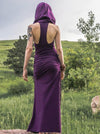 Purple Vintage Sleeveless Split-side Maxi Dress