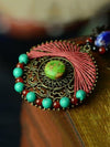 Handmade Turquoise Wax String Hollow Necklaces Accessories