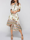 Bohemia Floral Printed Beach Cover-ups Tops
