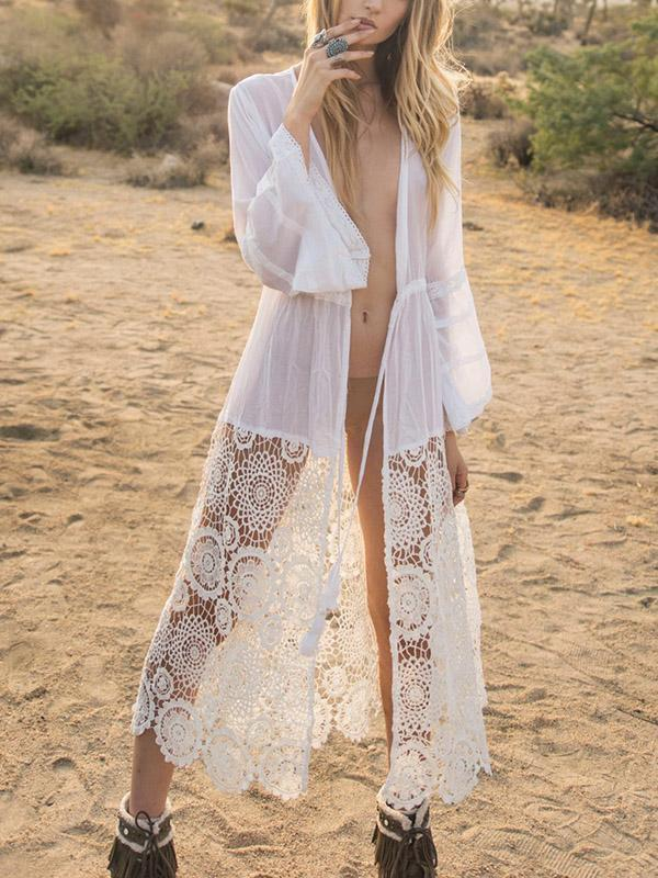 Lace Split-joint Cover-ups