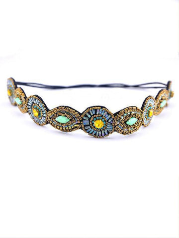 Bohemia Printed Wide Headband Accessories