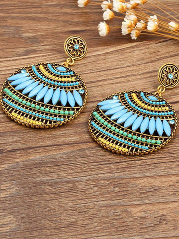 Retro Alloy Heliciform Hollow Earrings