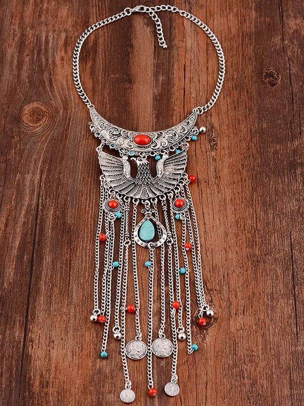Bohemia Vintage Turquoise Tassels Necklaces Accessories