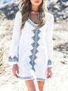 Lace Half Sleeves Button Cover-Ups