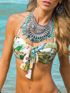 Floral Two-pieces Bikini Swimwear