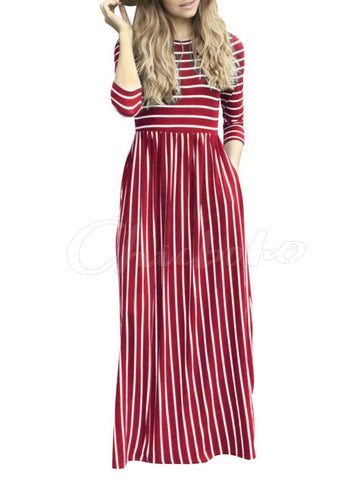 Plaid Empire Halter-neck Maxi Dress