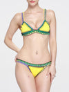 Sexy Knitting Colored Crochet Two-Pieces Bikini Swimwear