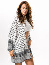 Classical White Chiffon Bohemia Long Sleeve Cover-Ups