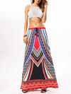 Pretty Falbala Split-front Skirt Bottoms