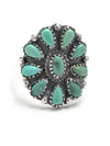 Vintage 4PCS Turquoise Carving Rings Accessories