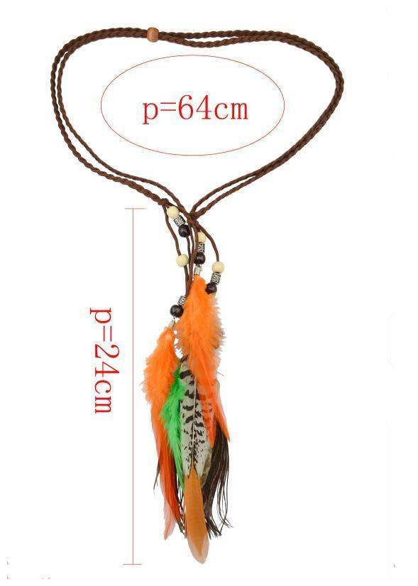 Bohemia Handmade Color Peacock Feathers Headwear Accessories