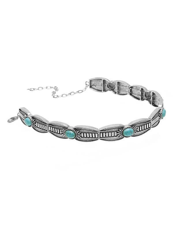Bohemia Turquoise Carving Collar Necklaces Accessories