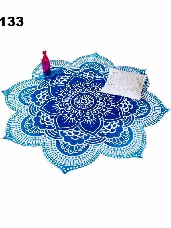 Bohemia Lotus Pattern Shawl Beach Mat Yoga Mat