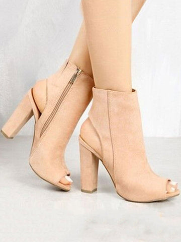 Pretty Chunky Mid-heels Shoes