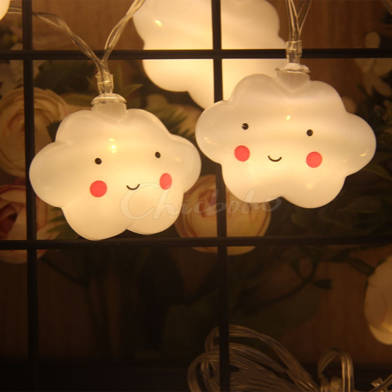 Cloud Shape AA battery Night Light Lamp Children Light Bedroom Sleep For Children Girl Toy Gift