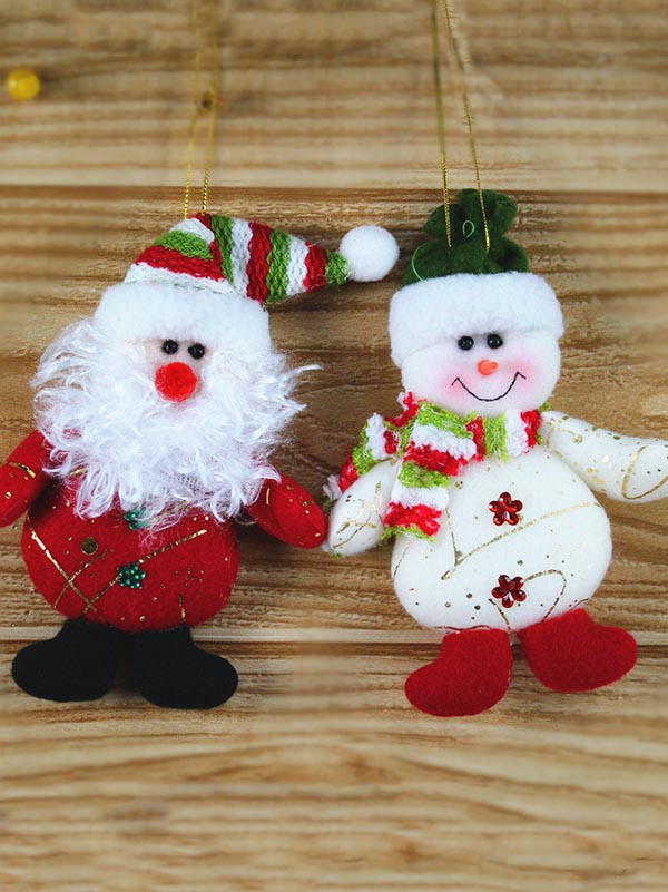 Christmas Santa&Snowman Little Pendant Decoration