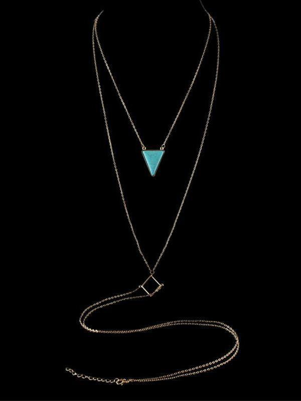 Bohemia Turquoise Halterneck Body Chain Accessories