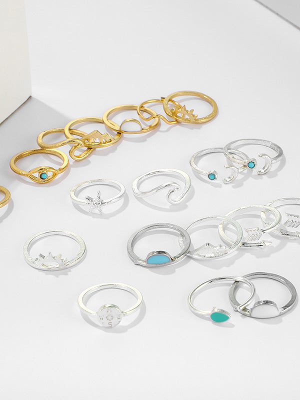 19-pieces Arrow Moon Ring Accessories
