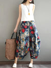 Floral Wide Leg Harem Pants Bottom
