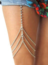 Pretty Copper Beads Leg Chains Accessories