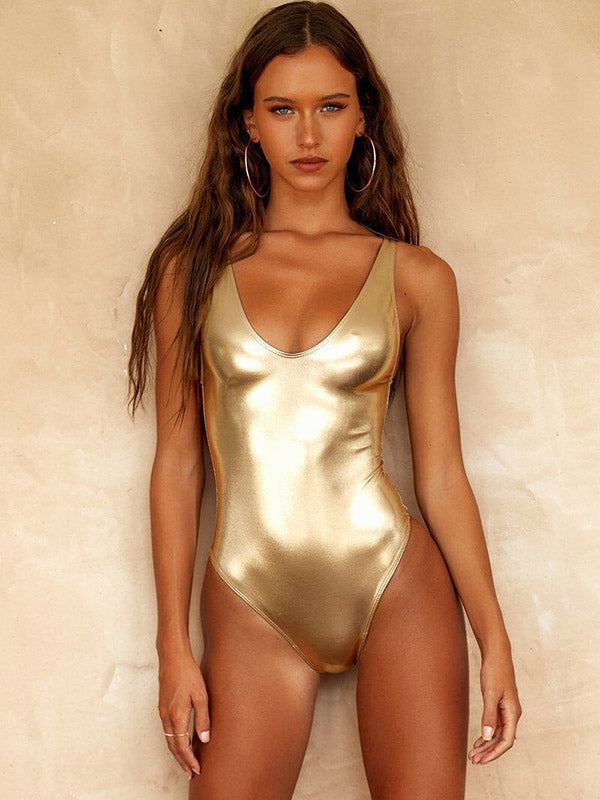 Golden Sliver Vernis One-piece Swimsuit