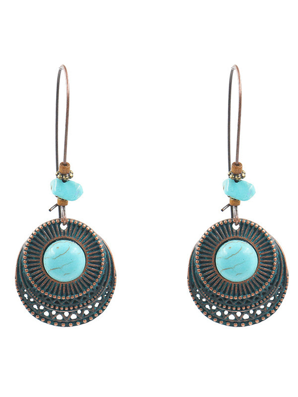 Vintage Fashion Bohemia Hollow Earrings