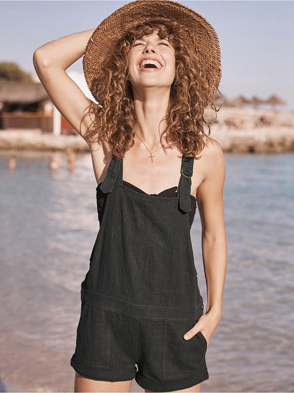 Bohemia Simple Solid Jumpsuits