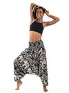 Black Wide Leg Harem Pants Bottom