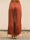Empire Belted Split-side Casual Pants