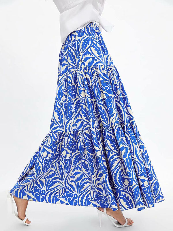 China Flower Printed Skirt