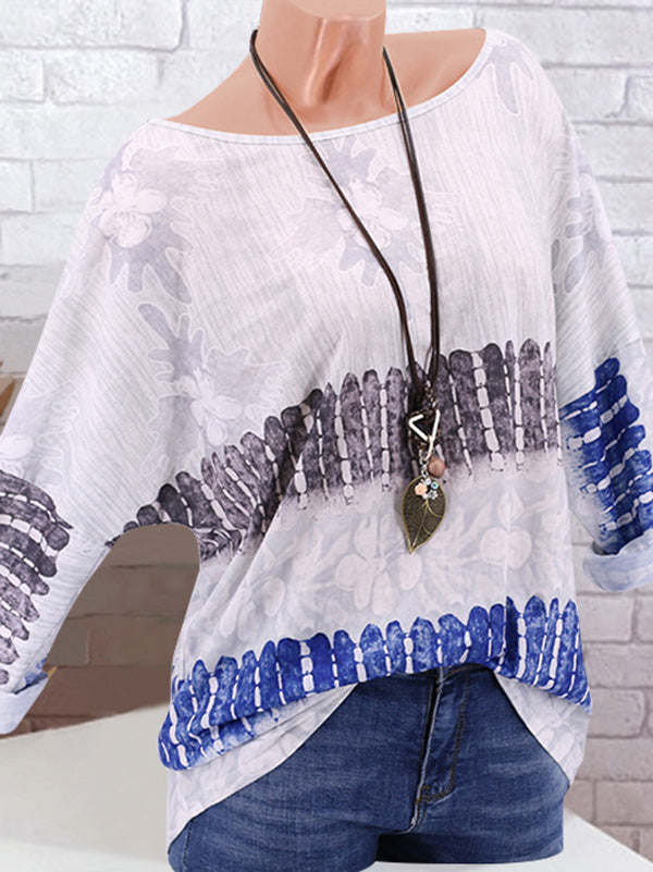 Comfortable Loose flower printed tops