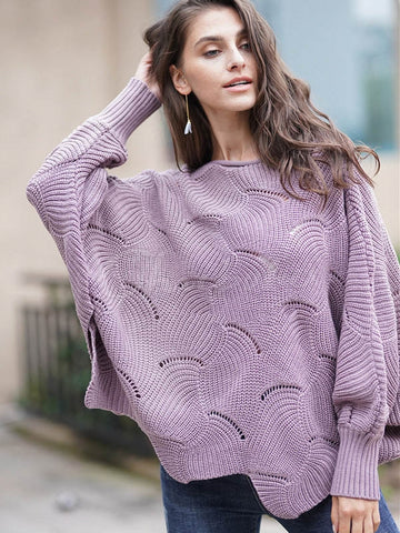 Striped Single-breasted V-neck Knit Sweater