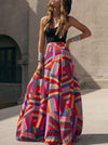 Gradient Flared Sleeves Maxi Dress