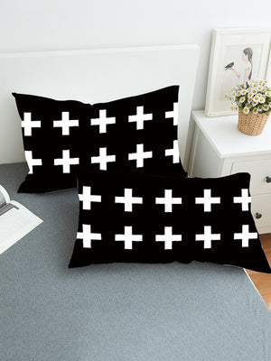 Crucifix Pattern Twain Pillow Case